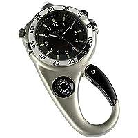 Jean Pierre Carabiner Stainless Steel Compass Clip Watch
