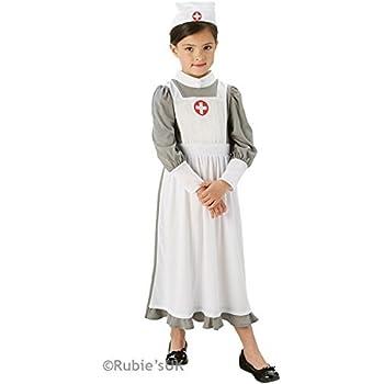 Smiffy\'s Children\'s WW1 Nurse Costume, Dress, Mock Apron and ...