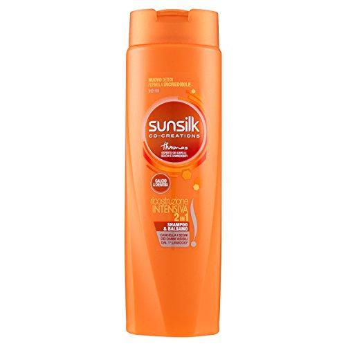 Sunsilk - Shampoo e Balsamo, Ricostruzione Intensiva per Capelli Danneggiati - 250 ml