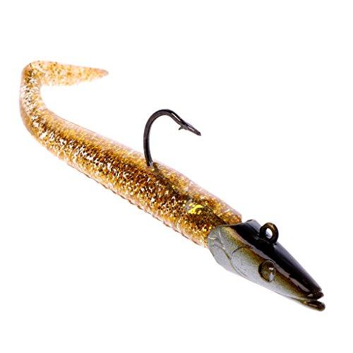 Lergo - Señuelos de Pesca, 11 cm, 22 g, Cabeza de Plomo, cebos flotantes, Dorado
