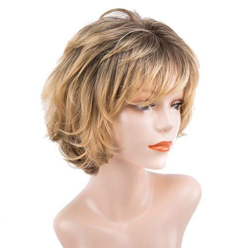 rücke für Frauen, kurzes Haar Gold Haar Hitze Beständig Ersatz Perücke Hitze Beständig Kostüm Cosplay Party Frau Perücken ()