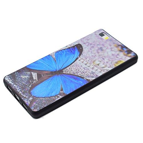 Huawei P8 Lite Cover Nera,Felfy Custodia Huawei P8 Lite Ultra Sottile Stampato Retro Disney Silicone Gomma Morbido TPU Gel Protettiva Bumper Cover Resistente Antiurto Protezione Slim Copertura della C #14