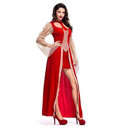 LCWORD Halloween Red Queen Kostüm Weibliche Elegante Kleid Cosplay Erwachsene Prinzessin Karneval Kostüme Für Frauen Party Kleider Benutzerdefinierte,M