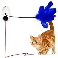 Vealind - Juguete Interactivo para Gato con luz giratoria automática para Colgar