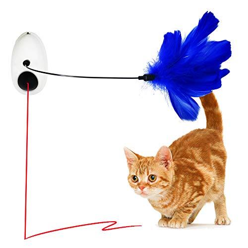 Vealind Interaktives Katzenspielzeug zum Aufhängen, automatisch, drehbar