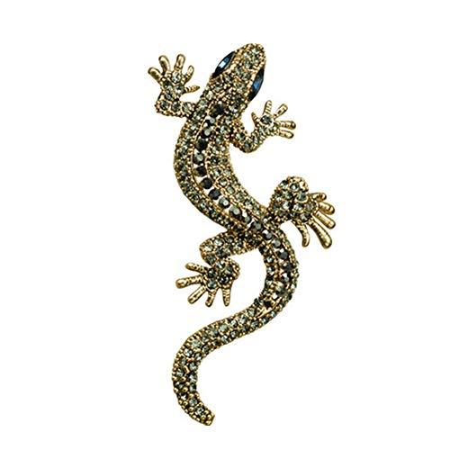 Beito Gecko Brosche Vintage Lizard Kragen Pins Kristalltier Broschen Strass Dekoration Kragen Pin Für Männer Und Frauen-Geschenk