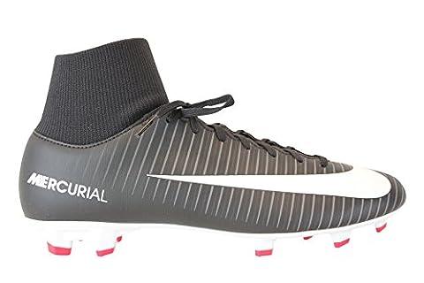 Nike Fußballschuhe JR Mercurial Victory VI DF FG Unisex black-white-dark grey (903600-002), 37,5,