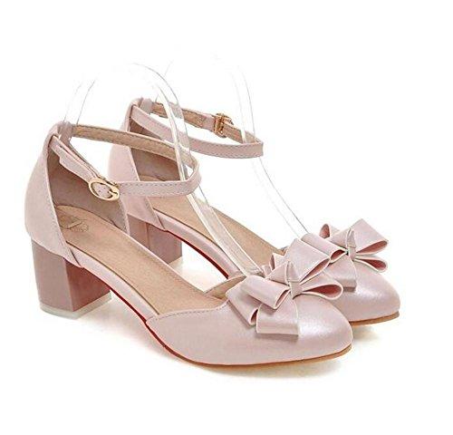 scarpe chiuse delle donne arco dolce bianca spessa sandali tallonati light pink