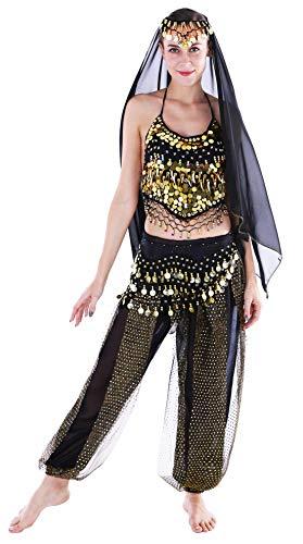 Karneval Kostüm Damen Karnevalskostüm Damen Bauchtanz Kostüm Damen Schwarz