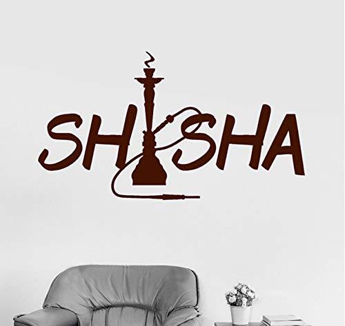 Hwhz 42 X 76 Cm Shisha Rauchen Wandtattoos Für Shisha Bar Entfernbare Wandaufkleber Für Shop Wandkunst Wandvinyl Tapete