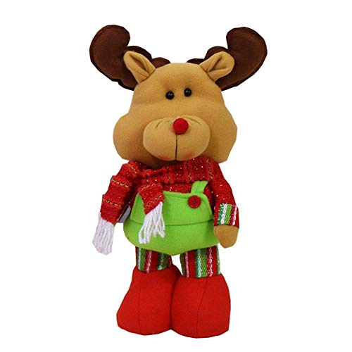 Asiproper Stretchable Christmas Doll Toy Xmas Hanging Ornament Home Decoration One Size Elk