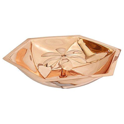 Achla Designs Kupfer Schüssel mit Gewinde Kupfer -
