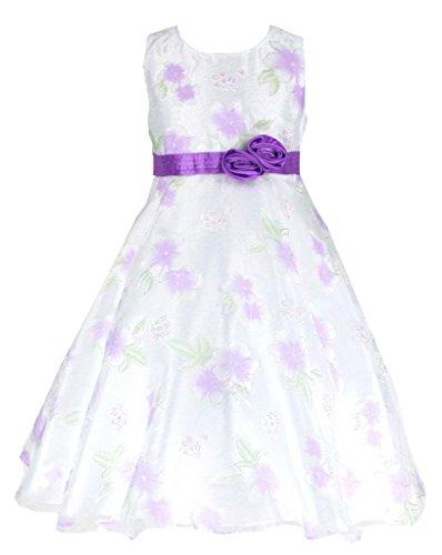8 Lange Tees (Organza Brautjungfern Anlässe Festkleid Blumenmädchen Tee-Länge Kleid Lila Gr.122/128 (L2310-8#))
