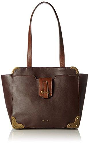 Tamaris Damen Mette Shoulder Bag Schultertasche, ((dark brown comb.), 11x24x27 cm -