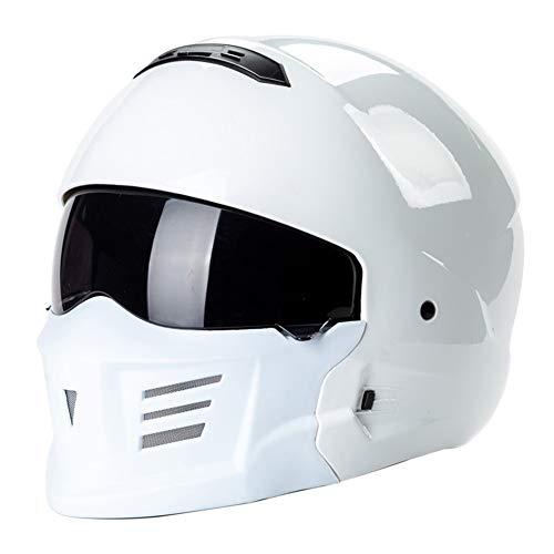 YYBFG Casco Moto Harley Casco ABS, Casco Moto Combattimento Ghost Face Samurai Certificazione DOT ed ECE Adatto per attività all'aperto, Unisex
