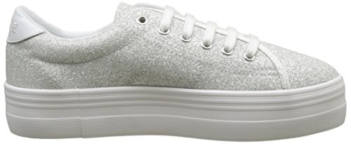No Name Plato Sneaker, Baskets Basses Femme Argent (Platine)