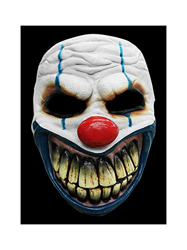 Maschera da Clown in Lattice Horror - Maschera in Costume da Clown Horror per Adulti - Ideale per Halloween, Carnevale, Festa a Tema ed Eventi Horror.