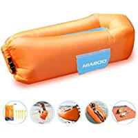 MIABOO Inflatable Lounger Air Sofa,Ultra Waterproof and Durable for Camping Beach Park Backyard, Picnics or Indoor Wind Bed Lounger with Beach Blanket