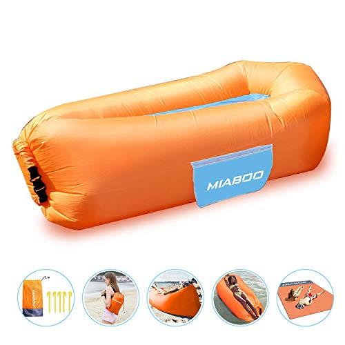 MIABOO Aufblasbare Sofa,Wasserdichtes Aufblasbares Air Lounger mit Tragebeutel, zum Schlafen im Freien, im Innenbereich, zum Zurücklehnen und Entspannen Aufblasbarer Sitzsack mit Picknickdecke