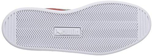 Puma - Puma 1948 Mid, Sneaker alte Unisex – Adulto Rosso (Rot (high risk red-castor gray 08))