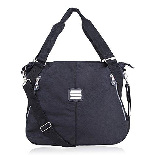 SUVELLÉ Lightweight Large Tote Travel Everyday Crossbody Bag Multi Pocket Shoulder Handbag 1932 …