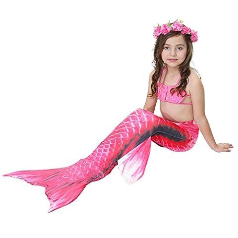 Mermaid Costume - MEIHAOWEI 3Pcs Kid Girl Swimwear Mermaid Set