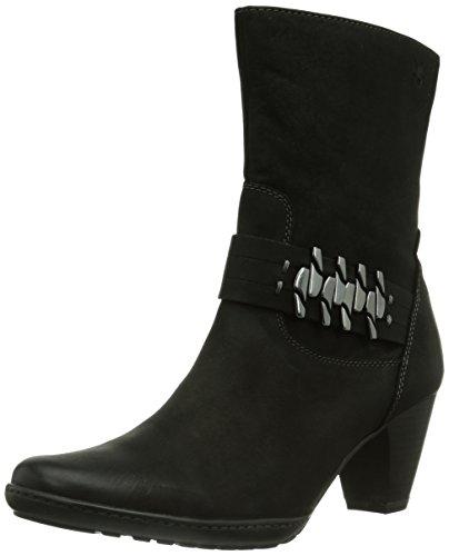 Caprice Britney-B-6K-4 9-9-25326-23 008 Damen Kurzschaft Stiefel Schwarz (8 BLACK NUBUC)