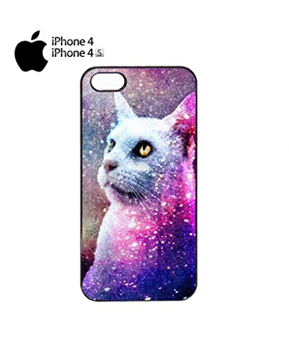 Galaxy Cat Grumpy Kitten Mobile Cell Phone Case Cover iPhone 5c Black Noir