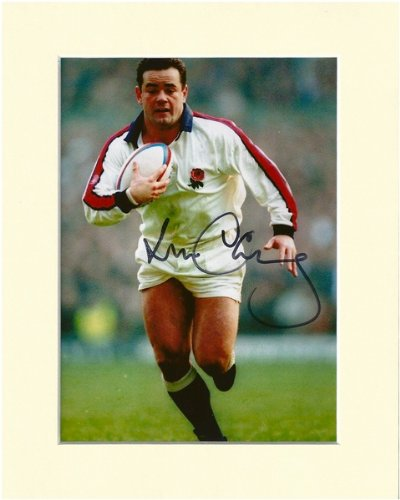 will-carling-england-rugby-legend-signed-autograph-photo-print-in-mount