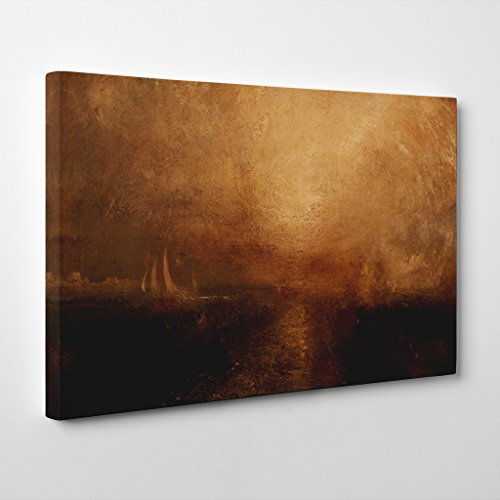 BIG Arty Pie J.M.W. Turner Joseph Mallord William Turner Yacht Approcahing the Coast Canvas Wall Picture Ready to Hang, Multi-Colour, 20 x 14-Inch