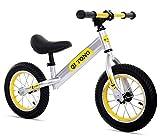 1-1 Biciclette Senza Pedali per Bambini, Sedile e Manubrio Sono Regolabili Pneumatici gonfiabili Leggero,Yellow