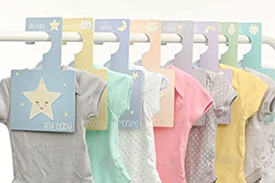 Baby Wardrobe Dividers - Sweet Dreams | Pack of 8 Hangers to Organise Clothes - low-cost UK light shop.