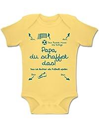 Shirtracer Strampler Motive - Papa du Schaffst Das Fußball Junge - Baby Body Kurzarm Jungen Mädchen