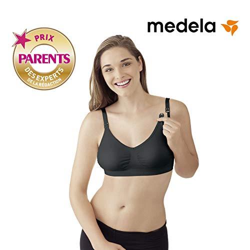 Medela Nahtloser Schwangerschafts- und Still BH, schwarz, Gr. XL