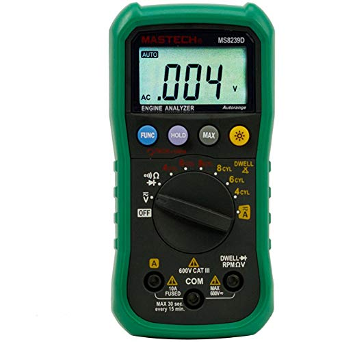 Gtest Digital Automobile Multimeter Car Engine Analyzer Meter DMMS Dwell Angle/Speed Tach RPM 4-8CYL Continuity Tester für die Auto-Reparatur