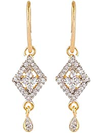 SKN Gold And Silver Alloy Dangle And Drop Earrings For Women (SKN-1223)