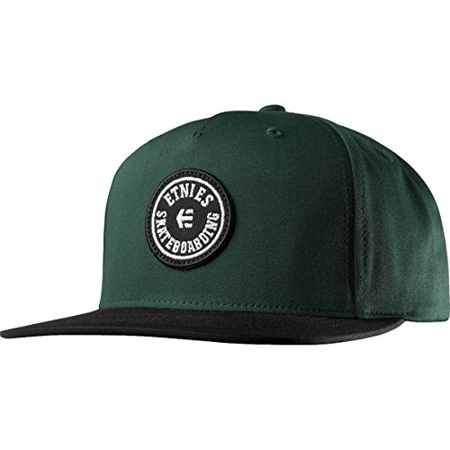Etnies Scout Snapback, Color: Black/Green, Size: One Size