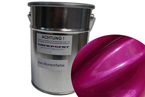 Lackpoint 1 Liter Spritzfertigen Basislack Candy Pink 2 Metallic Autolack Neu -