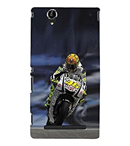 EPICCASE the racer Mobile Back Case Cover For Sony Xperia T2 (Designer Case)