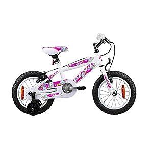 """41jO DlXguL. SS300 Atala Bicicletta da Bambina Modello 2020, Muffin 14"""", Colore Bianco - Rosa"""