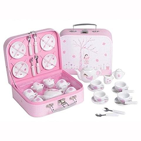 Fairy Blossom 17 Piece Tea Set in Attache Case