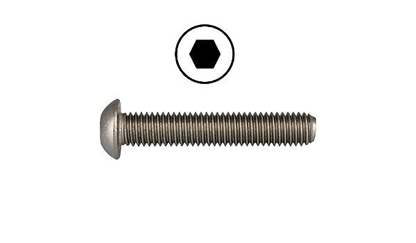 M3x3 /à M12x120 Vis de cl/ôture V2A ISK Vis /à t/ête ronde Vis /à t/ête bomb/ée acier inoxydable A2 Vis /à t/ête plate avec six pans creux ISO 7380 D ́s Items/®