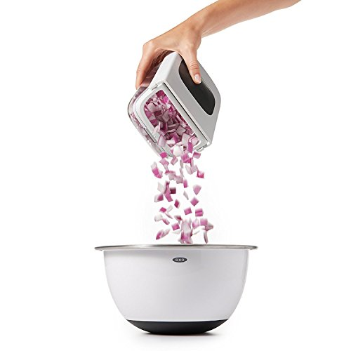 41jO MtU8 L. SS500  - OXO Good Grips Vegetable Chopper with Easy Pour Opening - White