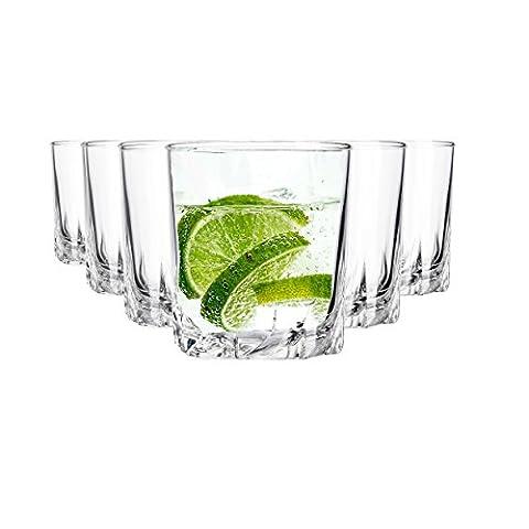 Arcoroc de verres 6 pièces | Capacité 250 ml | parfaite plaisir d'hydratation de haute qualité et Exceptionnellement designten Verres