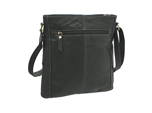 Pelle mala TUDOR Collection spalla / Croce Body Bag 7107_88 Tan Black