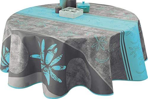 Nappe anti-taches Lotus bleu - taille : Ronde diamètre 160 cm