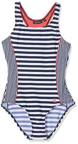 Marc O' Polo Kids Mädchen Badeanzug, Mehrfarbig (Printed Stripe|Multicolored 0009), 134 (Herstellergröße: 134/140)