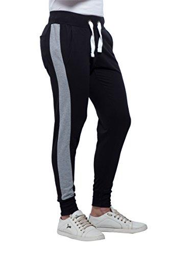Alan Jones Clothing Men's Side Panelled Cotton Joggers Track Pants