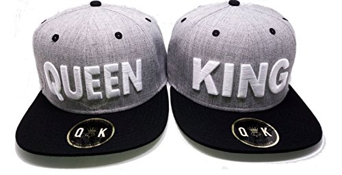 *Snapback King/Queen (aGrau/Schwarz, KING & QUEEN)*