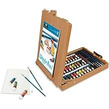 Royal & Langnickel Acryl - Paquete de 48 tubos de pintura acrílica y pinceles, multicolor
